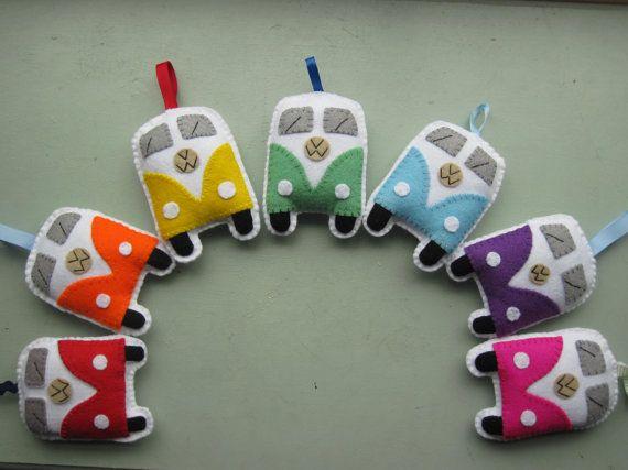 Items similar to VW Campervan Gift VW Campervan Ornaments / Toys - Rainbow on Etsy