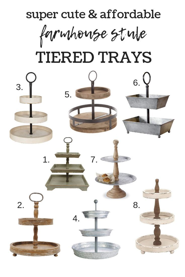 DIY Craft: Farmhouse Style Tiered Trays <a class=