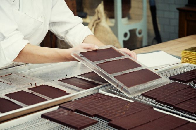 shots of Mast Brothers Chocolate from Jennifer Causey's The Makers project featuring people, their work, & their workspace