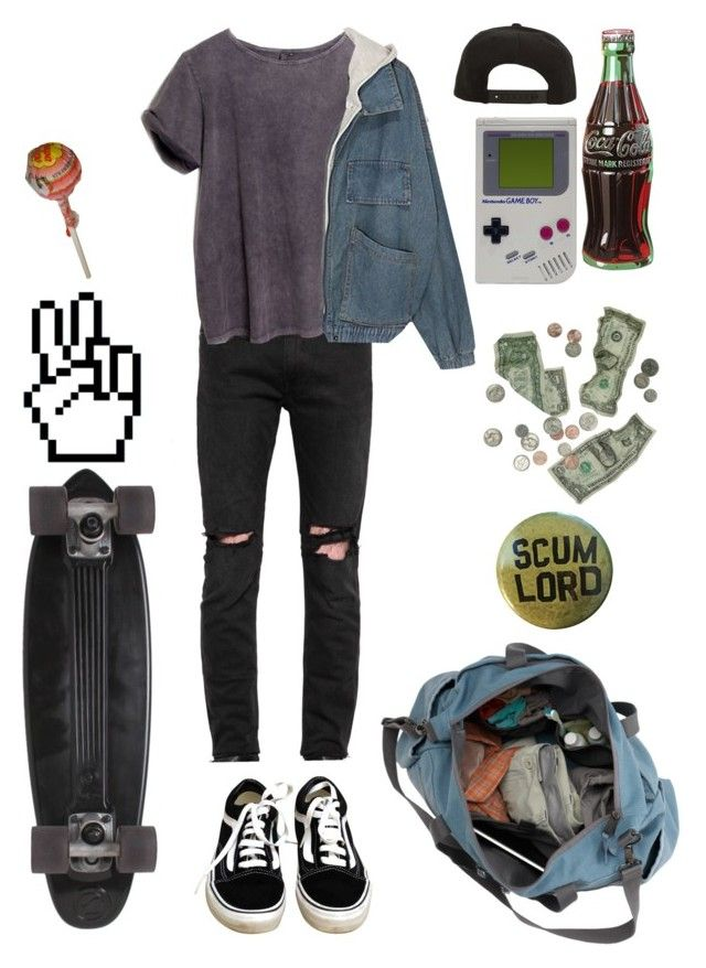 """""""Bored"""" by nevermind90 ❤ liked on Polyvore featuring April 77, ATG, Vans, GoldCoast, Roark, Retrò, men's fashion, menswear, outfit and teen"""