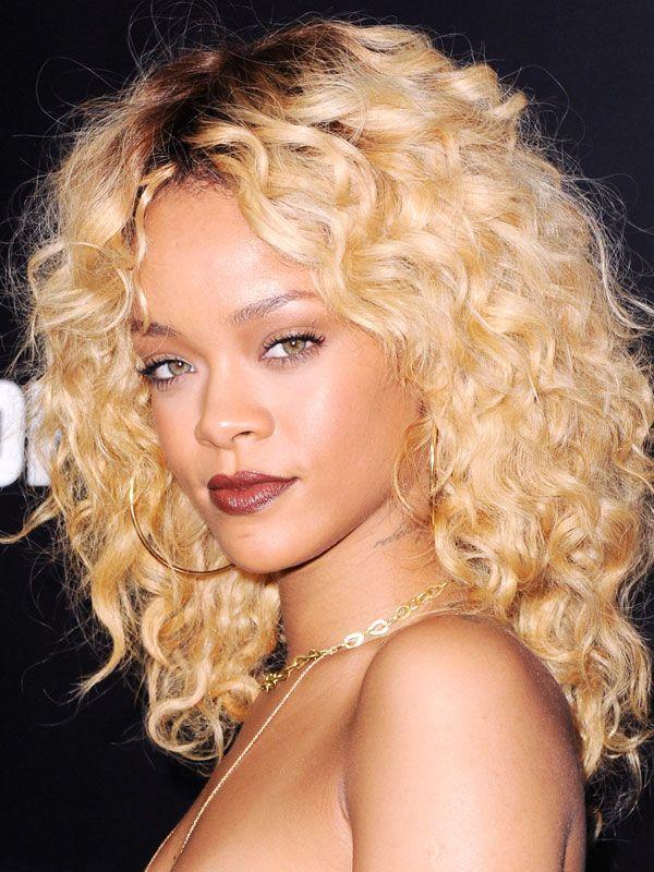 Miraculous 1000 Ideas About Rihanna Curly Hair On Pinterest Jasmine Short Hairstyles For Black Women Fulllsitofus