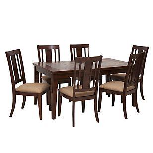 Ashley juego de comedor owensboro 6 sillas dining chairs for Juego de comedor redondo en madera