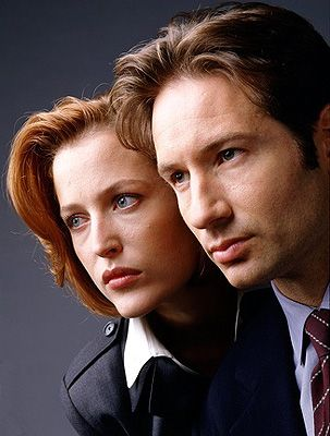 Gillian Anderson as Dana Scully and David Duchovny as Fox Mulder (The X-Files)