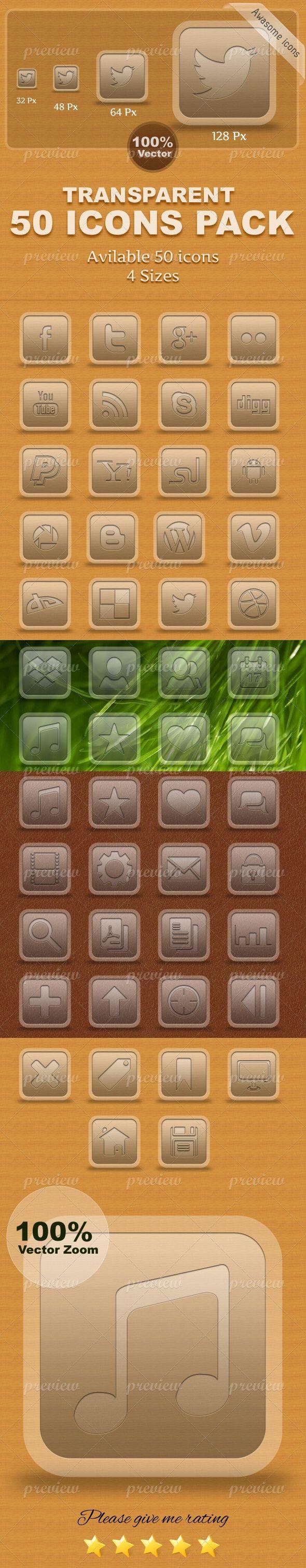 Classic Transparent  Multi Icons Pack