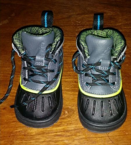 Baby shoe size 4 Nike ACG Boots Brand New black lime green gray and blue nwb in Clothing, Shoes & Accessories   eBay Www.stores.ebay.com/urmusthavesbymzsheshe to purchase please