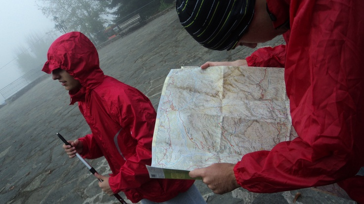 Kipi, with my venture scouts, 5.45 am!! Having fun with the map while i'm feeling a little artistic!