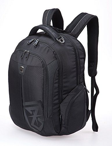 Go Tour Business Laptop Backpack Water Resistance Travel Bag Knapsack Fits up to 17 Laptop Macbook Computer Backpack Black ** You can get more details by clicking on the image.