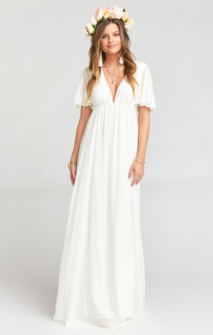 Faye Flutter Maxi Dress Wedding Cake Chiffon Mumu Bridesmaid Dresses Linen Wedding Dress Maxi Dress Wedding