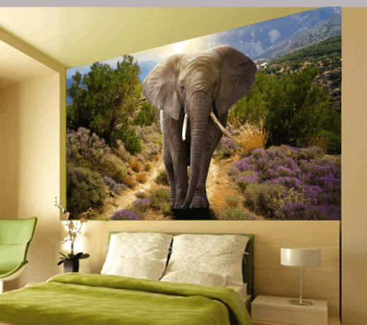 Fotomural decorativo de un elefante africano.