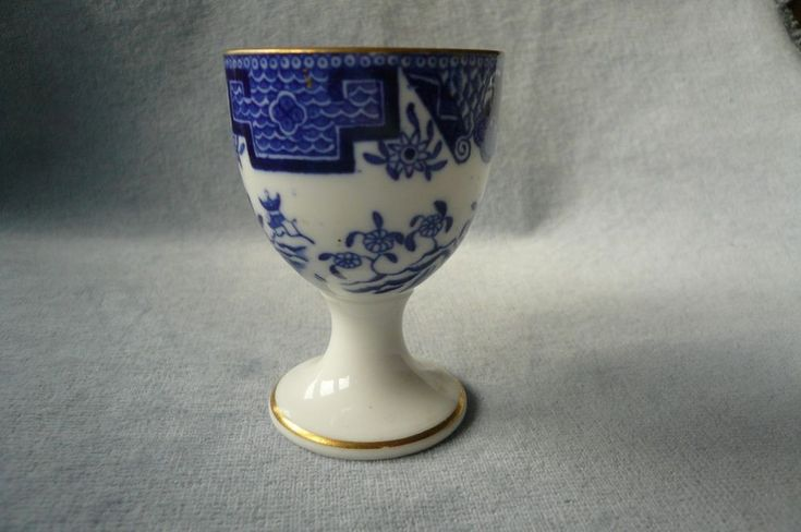 SUPER ANTIQUE ROYAL WORCESTER BLUE & WHITE EGG CUP DATE MARKED FOR 1900 | eBay