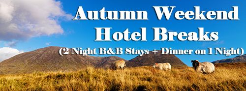 Autumn Weekend Hotel Breaks on #Hotelsireland.com (all Packages are 2 Night B Stays + Dinner on 1 Night): Co. Cork Getaways from €91.50pps | Co. Galway Breaks from €97pps | Co. Dublin Packages Deals from €95pps