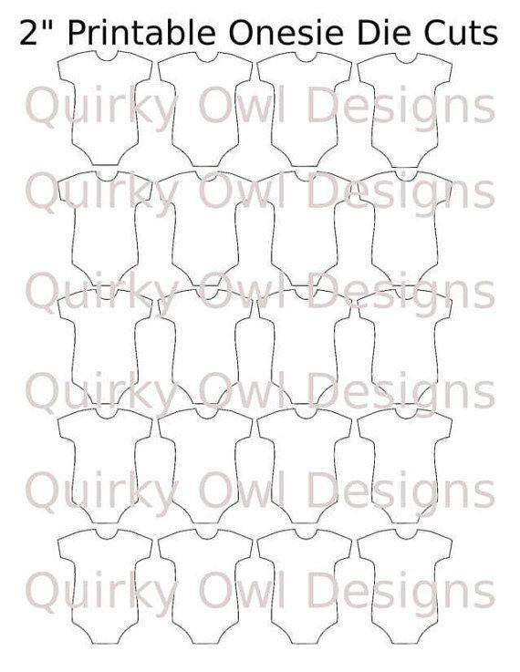 Onesie Die Cut Digital Template ~ Baby Onesie Die cuts, Baby Onesie Cut Outs, Onesie Cupcake Toppers, Printable Onesie Tags, Onesie PDF