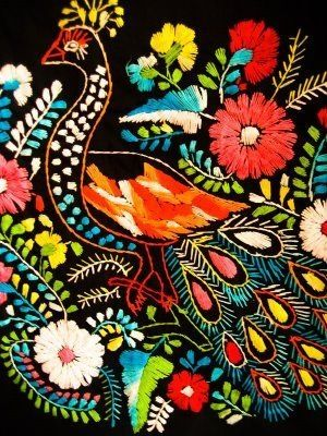 mexican floral embroidery