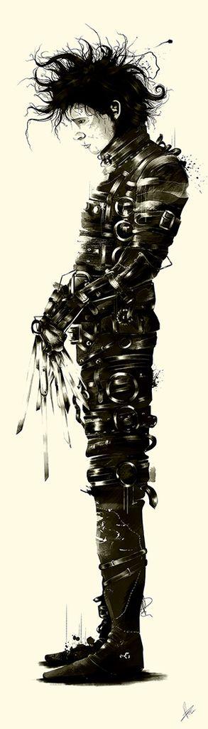 Fantastic Tim Burton Tribute Art - Jack, Beetlejuice, Edward, and Martian