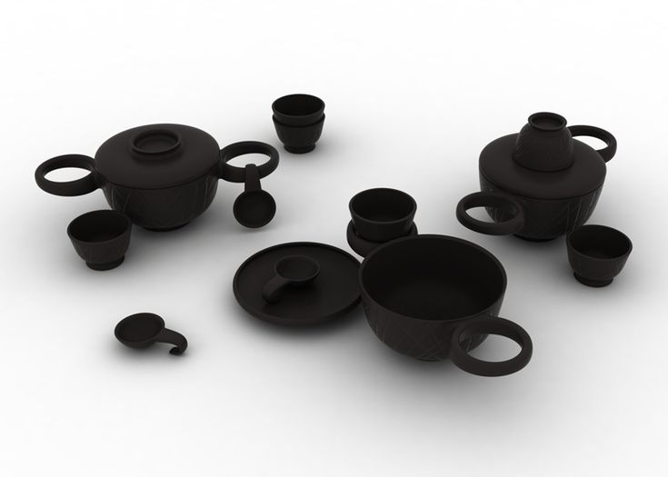 STUFF: The Cheburashka table set for ceramics company Dymov was designed by Luca Nichetto and Lera Moiseeva to enhance and reinterpret the ritual sharing of food.