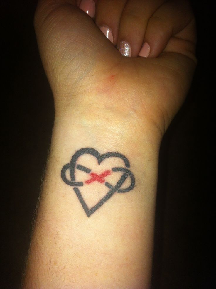 Variation of the heart infinity tattoo christ in the for Infinity with heart tattoo