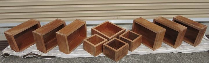 Recycled timber boxes for a day spa studio in Melbourne :) great fun to make. #recycledtimber #woodwork