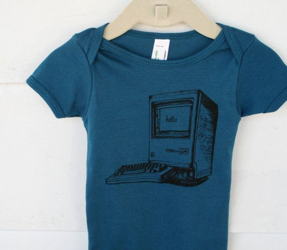 Old School IMac Computer  Design on Galaxy Blue by TypsyGypsyTees, I have to have this!