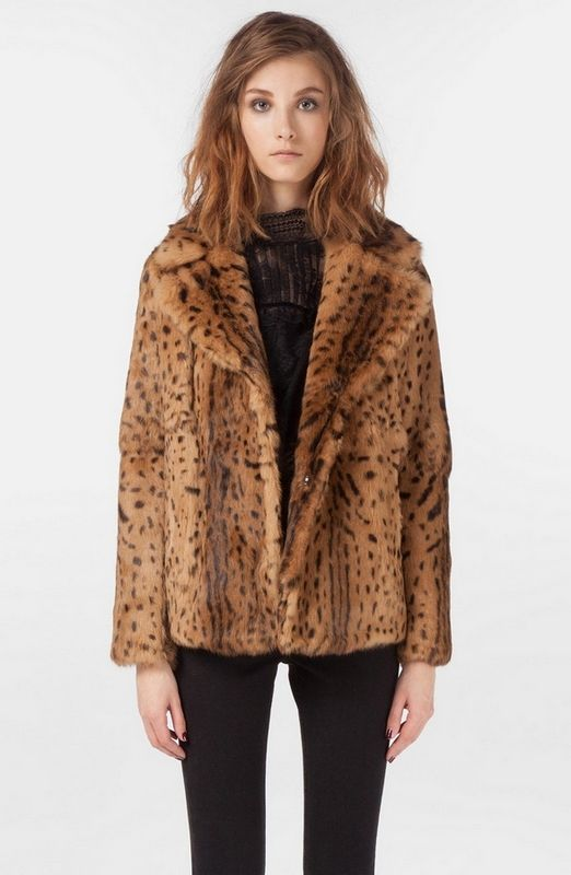 Leopard Faux Fur Coats For Women