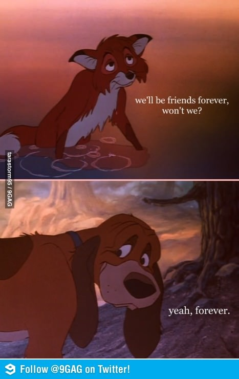 The Fox and the Hound! Me with all my friends! Ken, Brett, and Mallory is it true? Are we going to be friends forever? haha