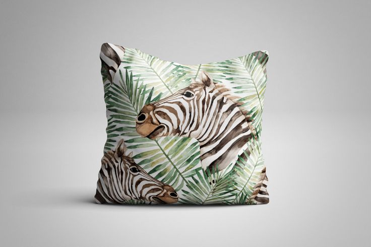 Zebra Cushion. 12 x 12 inch Cushion by NJsBoutiqueCo on Etsy