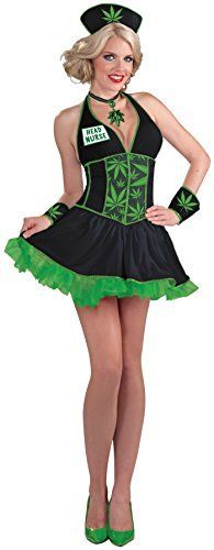 This is one of my favorite costumes for Halloween.  This is a very different type of Naughty Nurse Halloween Costume.     Forum Novelties Women's Head Nurse Cannabis Costume  420 MMJ