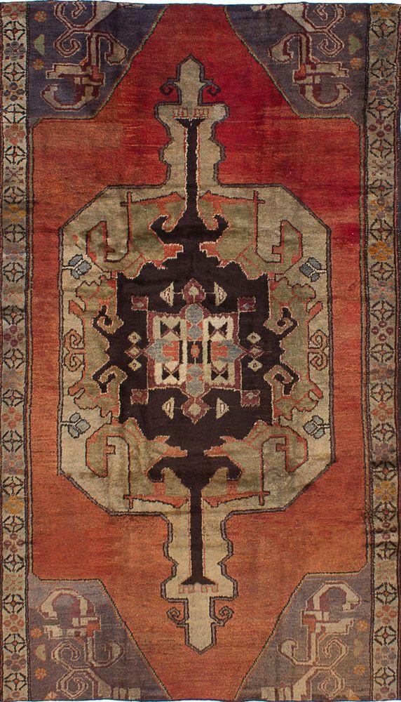 "Hand-knotted Turkish Carpet 5'0"" x 9'0"" Anadol Vintage Traditional Wool Rug #eCarpetGallery #Bordered"
