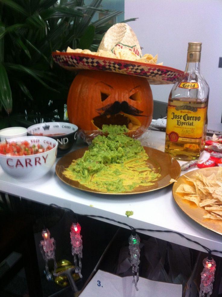 pumpkin throwing up picture | Halloween Fiesta. Pumpkin throwing up guacamole. | Yummy Goodness