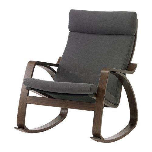 POÄNG Krzesło bujane - Finnsta szary - IKEA