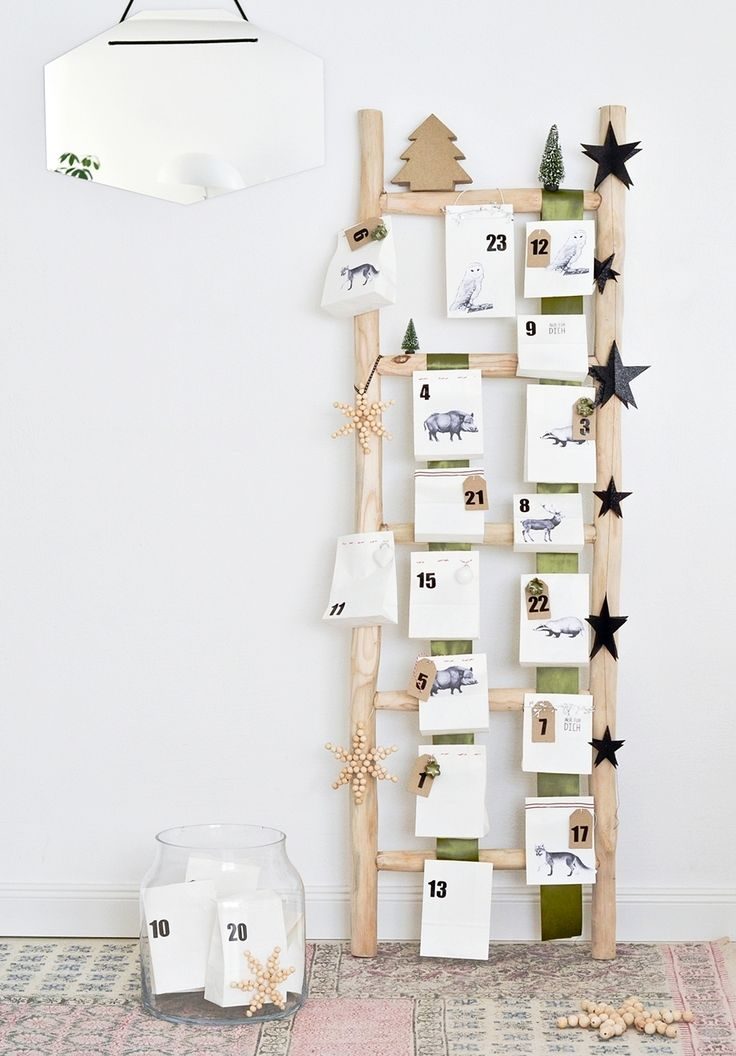 #Adventskalender in Form einer Leiter #weihnachten #diy