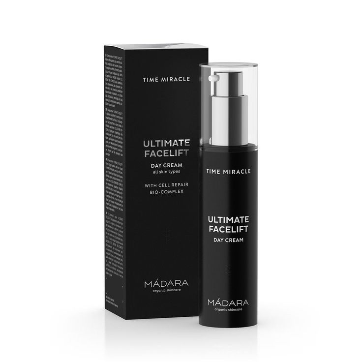 TIME MIRACLE ULTIMATE FACELIFT DAY CREAM <br> Your daily facelift in a bottle, tightens, firms and smoothes for instant and long-lasting results, 50ml
