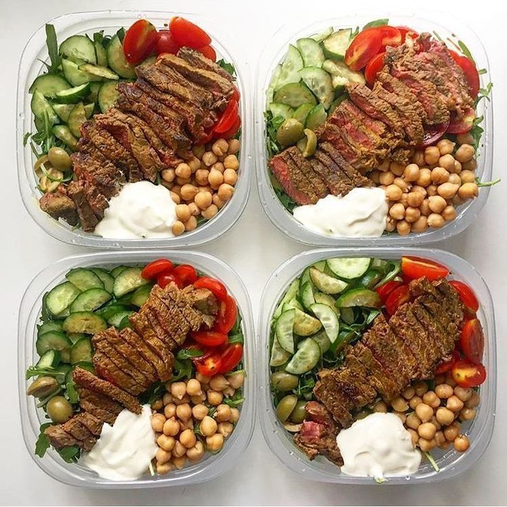 Um... Yes please!  Middle Eastern Beef Bowl  Photo: @abe.fitness.journey  Ingredients 7.2oz beef strips 1/2 cup chickpeas rinsed and drained 1/2 cucumber chopped 1 tomato chopped 2 cups arugula 6 black olives 1 tsp. coconut oil 1 tsp. cumin 1 tsp. turmeric  Yoghurt Sauce 1/2 cup yoghurt 1 tbsp. dried mint 1 garlic clove crushed  Full recipe via #F45Training (DM for mention)