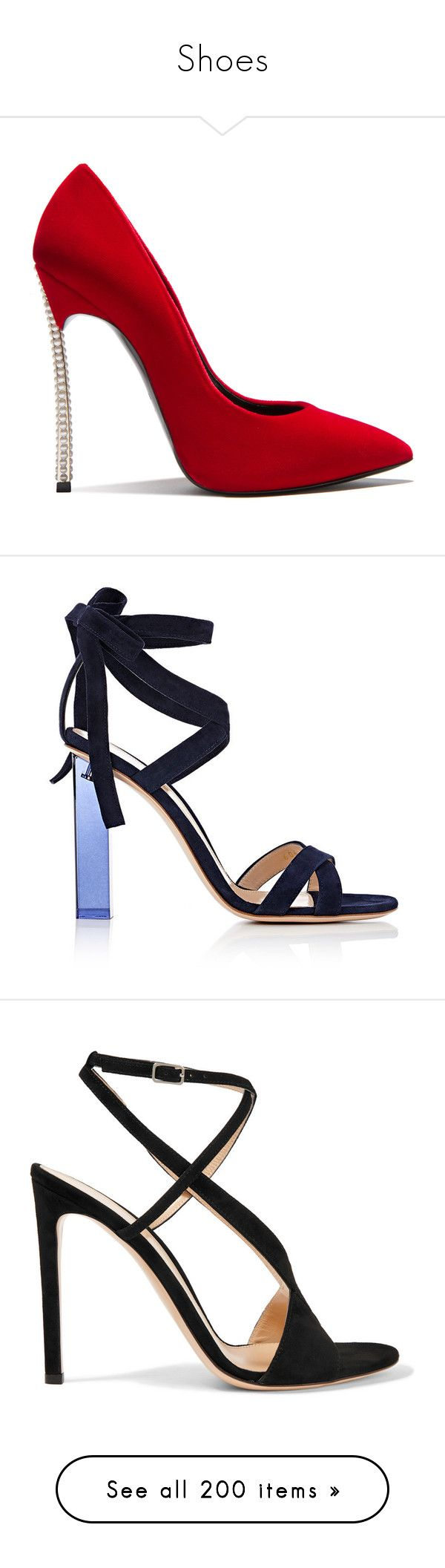 """""""Shoes"""" by bliznec-anna ❤ liked on Polyvore featuring shoes, eros, sandals, heels, gianvito rossi, sapato, navy, open toe sandals, square heel sandals and navy heeled sandals"""