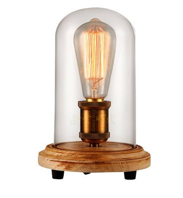 Browse project lighting and modern lighting fixtures for home use wooden botton clear glass shape table lamp 8103 wooden botton clear glass shape table