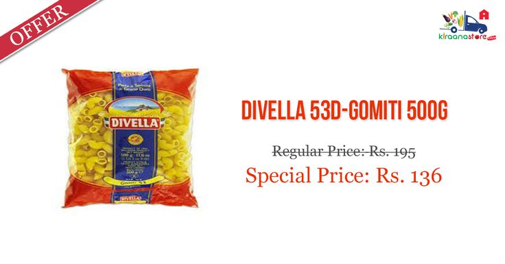Shop Online for ‪Divella‬ Gomiti ‪‎Pasta‬ @ Low Price on Kiraanastore.