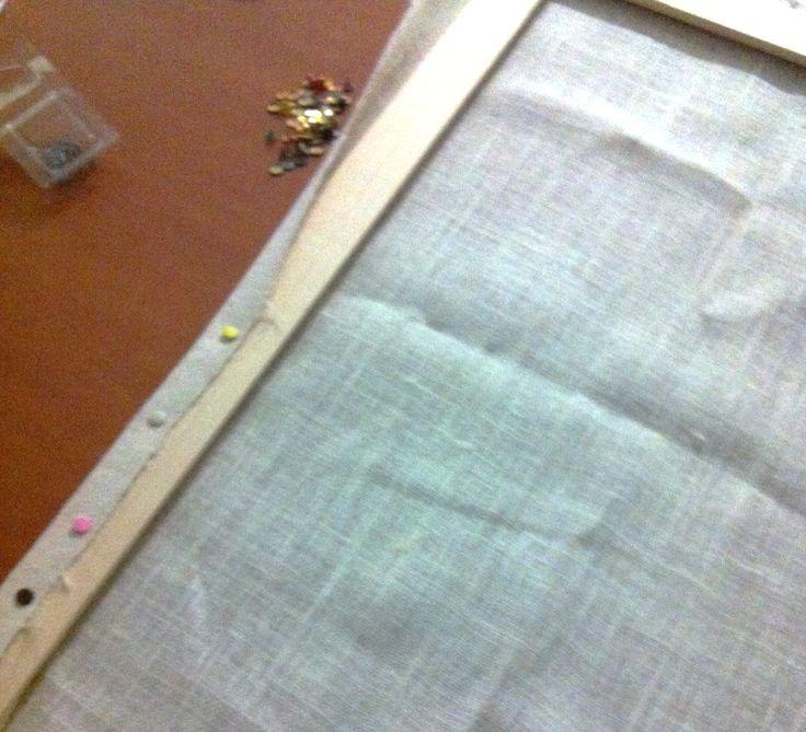 Preparando el area de tejido!