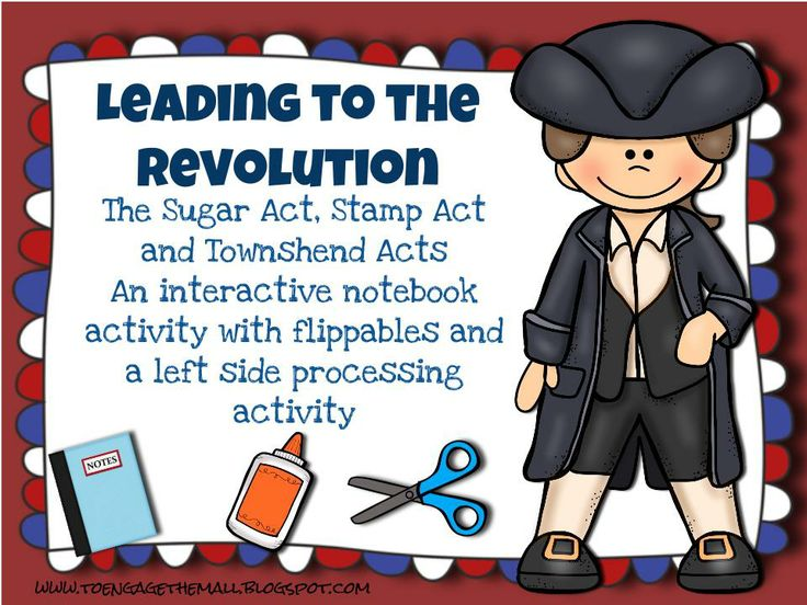 Introduce the events that lead to the American Revolution with interactive notebooks and flippables! This activity focuses on the three acts, Sugar Act, Stamp Act, and Townshend Acts with a specific focus on the colonial response. Included you will find: 1. A two page reading on the three acts 2. Three flippables, one for each act 3. One left side processing activity 4. A video explaining the set up  5. A PPT describing how to set up the flippables