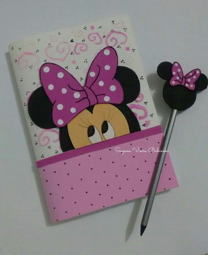 Capa caderno Minnie