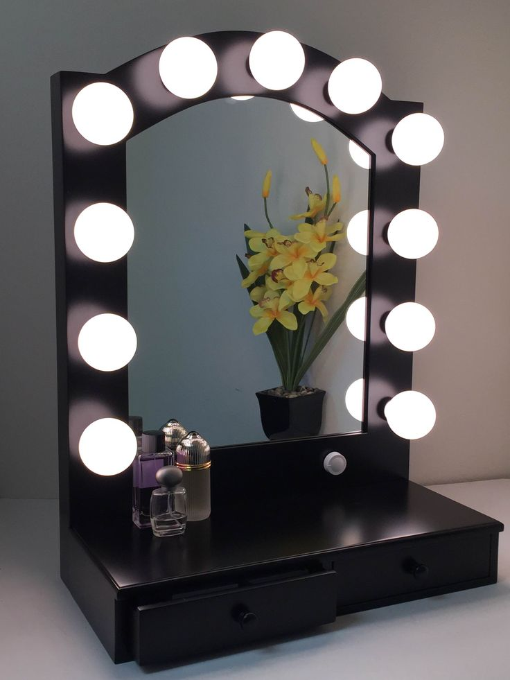 Lighted Vanity Mirror Impressions : Hollywood Posh Vanity Mirror with Drawers Shops, Vanities and Hollywood