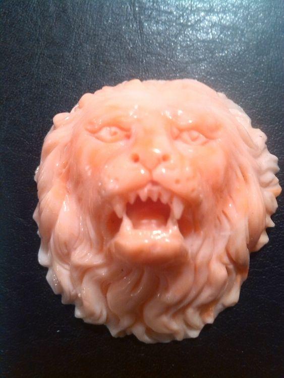 Lion in Coral - Dogale jewellery Venice Italia