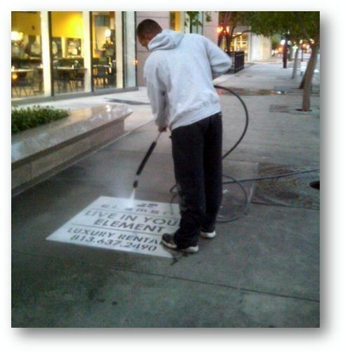 apartment marketing and advertising ideas sidewalk stencil north little rock arkansas near