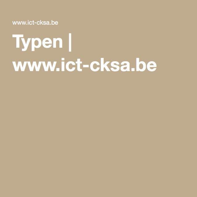 Typen | www.ict-cksa.be