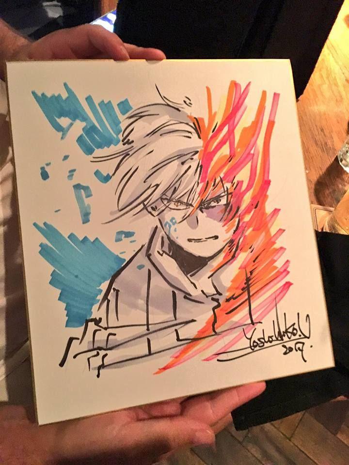 Dibujo de Yoshihiko Umakoshi hecho en vivo en el Anime Expo 2017.