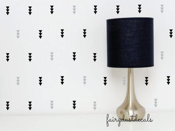 Triangle  triple triangle wall decals  tribal by FairyDustDecals