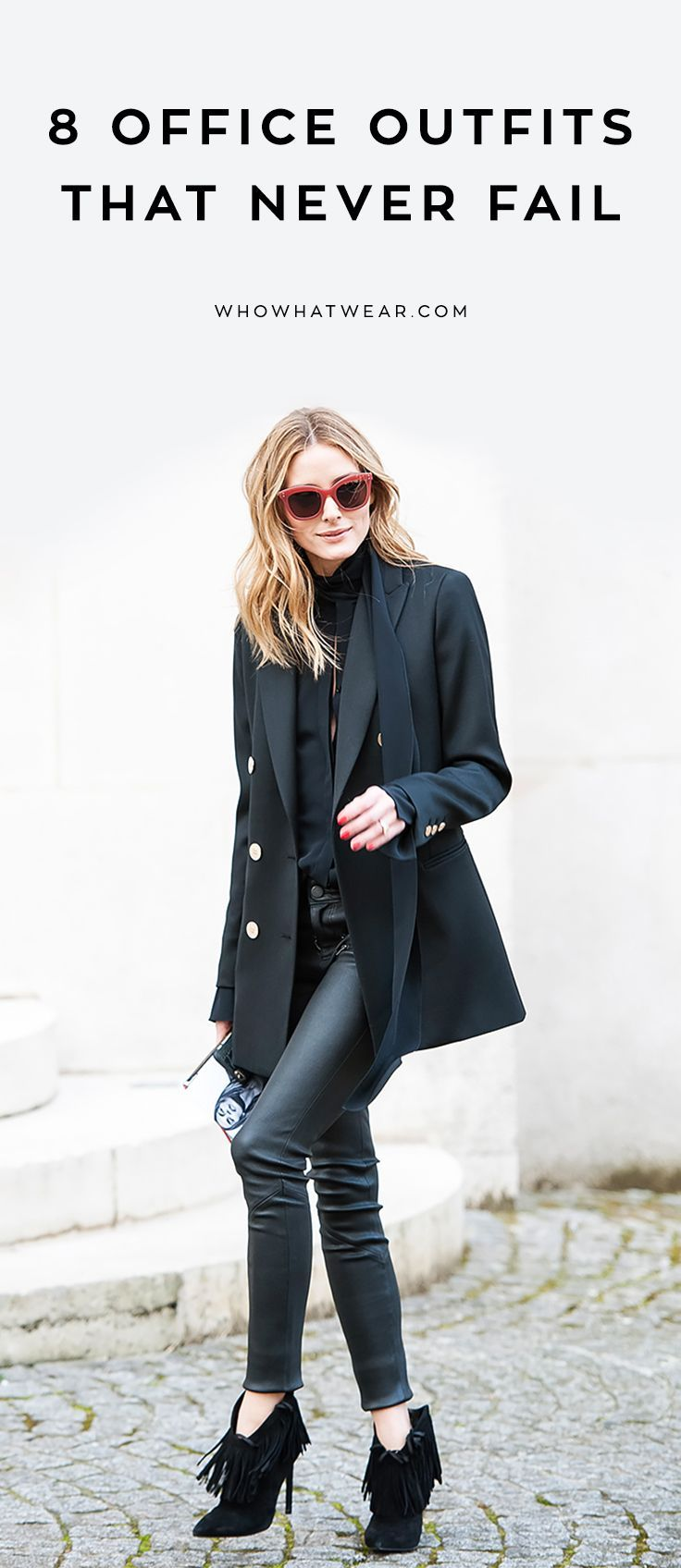 These outfit combos always work for the office.