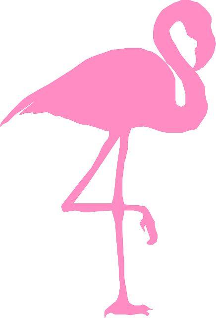Image gratuite sur Pixabay - Flamant, Oiseau, Silhouette, Rose