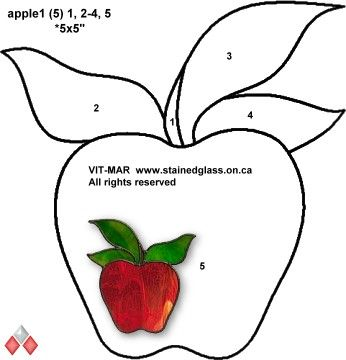 √    apple stained glass pattern