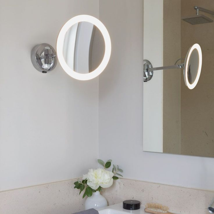 Contemporary Art Sites Astro Mascali Warm White LED Magnifying Mirror Light from Lighting Direct