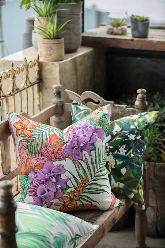 Floral and jungle patterns are still in! Our NEW print scatters: http://bit.ly/1XaFKX2 #LoadsofLiving #patterns #home #decor