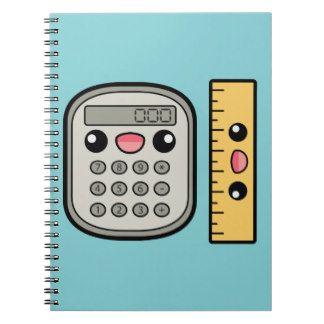 Cute Calculator And Ruler Spiral Notebooks